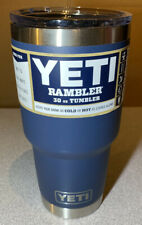 New listing Yeti Rambler 30 oz Tumbler with MagSlider Lid Navy New! No Reserve!