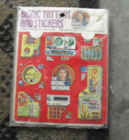 Vintage 1976 Kenner Bionic Woman Tattoos and Stickers Pack