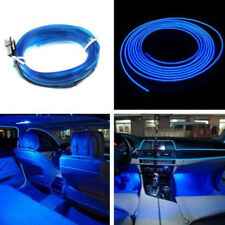 2M 12V Car LED EL Wire Blue Cold Light Neon Lamp Strip Interior Atmosphere Decor
