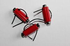 10 Kordelstopper, Kunststoff-Metall, Größe: ca. 24 x 8 mm, rot