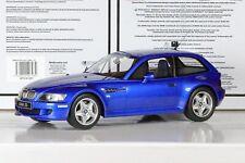 BMW Z3M Coupé Bleu/Blue/Blau 1/18 OT318 Otto Ottomobile RARE !