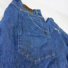VTG Nike BRS Products Blue Ribbon Sports Blue Denim Jeans W 38 L 32 Baggy USA