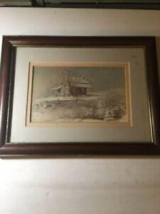"Ben Hampton Print, ""Winter South"", Signed & Framed"