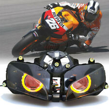 Big Amber Halo Red Evil Eyes HID Projector Headlight Assembly For Honda CBR600RR
