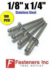 500 diam. 4 mm Stainless steel  5//32 x 1//4 Pop Rivets Grip range 1//8 to 1//4