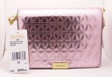 """NEW"" Michael Kors 30H7GJ4C8K Jade SOFT PINK Medium Gusset Clutch Crossbody Bag"