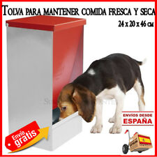 TOLVA COMEDERO animales comida FRESCA y SECA. 24x20x46 cm Dispensador comida dog