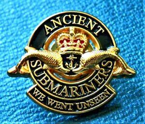 ROYAL NAVY ANCIENT SUBMARINERS Veteran Enamel Lapel Pin Badge Army Military 2021