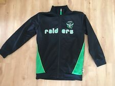 Kids CANBERRA RAIDERS Tracksuit Top Size 12 NRL Childs Black