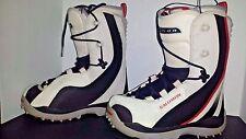 Salomon Women's Diadem Atomic Fit Snowboard Boots size USA 5.5 blk/red/white