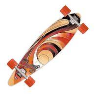 """41"""" inch Retro Orange Swirl Pintail Long Board longboard Skate Board"""
