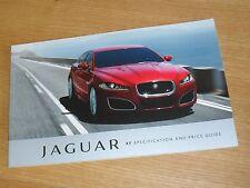 Jaguar XF Prix Brochure 2011 2.2d 3.0 V6 Diesel S Luxe Premium Portefeuille V8