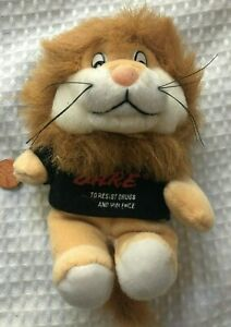"Vtg Dare Stuffed Animal Plush Lion To Resist Drugs And Violence 1999 7"" small"