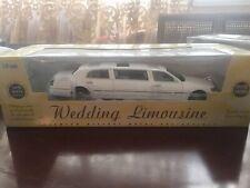 White Limousine Wedding Toy Car