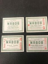 Nabob Foods One Full Coupon Catalogue Vancouver Canada Lot Of 4 Vintage P001 Gr