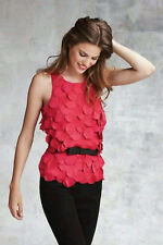 NWOT Ann Taylor Petal Front Shell Sleeveless Top Size 12