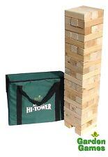 Mega Hi tour jeu de jardin en bois JENGA construit à 2,3 m & sac de transport