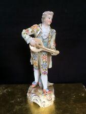 Antique porcelain. Little German figurine in Meissen style. Original gift box .