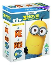 DESPICABLE ME COLLECTION [Blu-ray 3-Film Box Set] 1, 2 & Minions + 9 Mini Movies