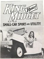.RARE c1958 KING MIDGET SMALL SPORTS CAR & UTILITY BOOKLET.
