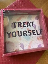 "💕Coin Bank- ""Treat Yourself�- 5.6� x 5.6� x 1.6� Great Holiday Fun Only $1.00💕"