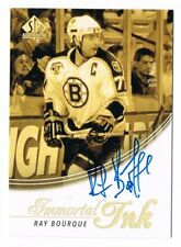 2015-16 SP Authentic Immortal Ink Autograph Auto #II-RB Ray Bourque 09/10 !!