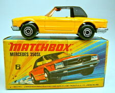 Matchbox Superfast Nr.06B Mercedes 350SL gelb J/K in Übergangsbox