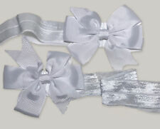 Reusable Gift Wrapping White Stretch Bands w/ Bows (2 pack) - Regift the Wrap