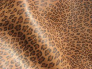 lambskin leather hide skin Leopard Print w/White Faux sheepskin shearling back