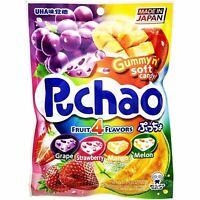 Uha Mikakuto Japan Puccho Puchao 4 Fruit Mix Grape Melon Strawberry Mango Chewy