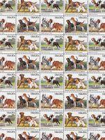 Dogs Mint Sheet of 40 Stamps, Scott #2098-2101, MNH, Free Shipping! Nice!