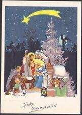 5501 Postkarte Papier Krippe Weihnachtskrippe Christkind Engel Weihnachten Stern