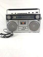 Vintage Sanyo Boombox Model M9940K AM FM Radio Shortwave, Cassette Recorder 1982