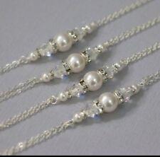 Bridal Pearl And Crystal bracelet,bridesmaid gift bracelets,weeding jewellery's