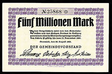 Bramfeld-Comune - 5 milioni di Mark V. 23.08.1923