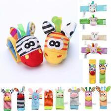 Infant Baby Wrist Rattles Foot Socks Rattle Cute Animal Soft Toys Gcom