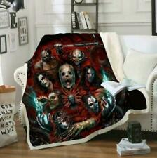 Slipknot Band 3D Print Sherpa Blanket Sofa Couch Quilt Cover throw blanket gift