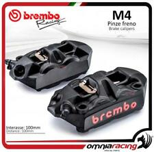 Brembo Racing 2 pinzas Radial nere monobloque fuse M4 100 INT 100mm SX+DX + past