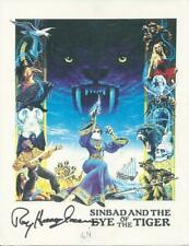 Ray Harryhausen Sinbad and the Eye Of The Tiger Sci-Fi Signed Autographed Photo