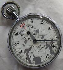 Omega Stop Watch Open Face Nickel Chromiun Case 51 mm. in diameter cal. 9000
