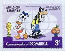 Dominica stamps - World Cup  'Espana '82'  Donald Duck & Goofy 1982