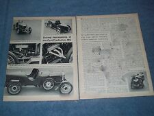 """1924 MG 14/28 Vintage Info Article """"Driving Impressions of the First Production"""