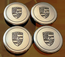 (4) Porsche 911 930 944 Fuchs Polished Center Caps Factory OEM