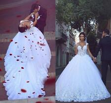 2019 Gorgeous Made Appliques Wedding Dresses Straps Tulle&Lace Bridal Ball Gowns