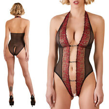 """Sexy Body S M L XL mit Spitze Schritt offen Damen Stringbody Dessous """"Paris"""""""