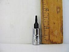 """Craftsman 42685, 1/4"""" Drive Tamper Proof Torx Bit Socket T10 - Brand New"""