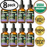 GRAPE Hemp Oil Extract for Pain Relief, Stress, Anxiety, Sleep - (8 PACK)