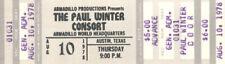 The Paul Winter Consort Concert Ticket 1978