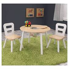 Kidkraft Round Storage Table and 2 Chair Set Multi-colour