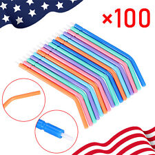 100 Pcs Dental Disposable Triple Spray Nozzles Tips For 3 Way Air Water Syringe